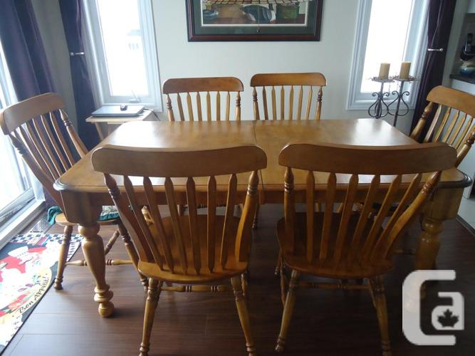 Oak dining room set with 6 chairs for sale in pakenham ontario classifieds - Oak dining room sets for sale ...