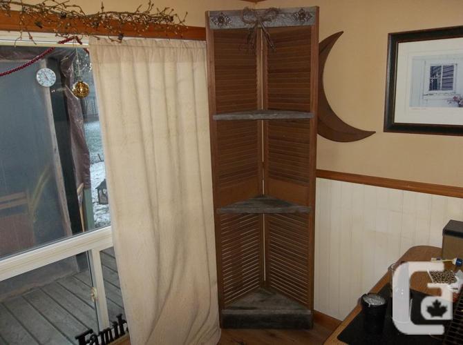 Old door corner cabinets