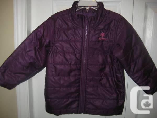 OLD NAVY JACKET Girl's Purple Frost Free Jacket - 3T -