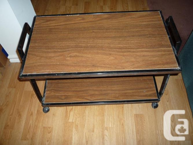 Old TV unit turned into cabinet with shelf and tv cart