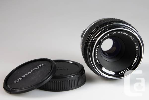 Olympus 28mm 50mm Macro 75-150mm lenses