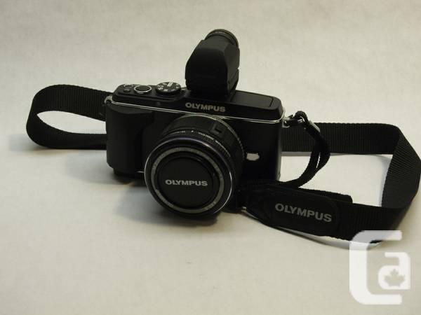 Olympus E-P3 camera, 14-42mm lens, VF-2 - $500