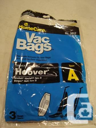 One Hoover Vacuum Bag - New - #3017 Type A