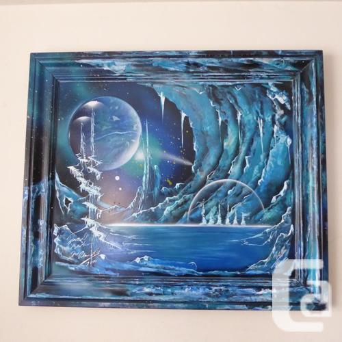 """ONE-OF-A-KIND PAINTING ENTITLED """"ICE PLANET"""" --"""