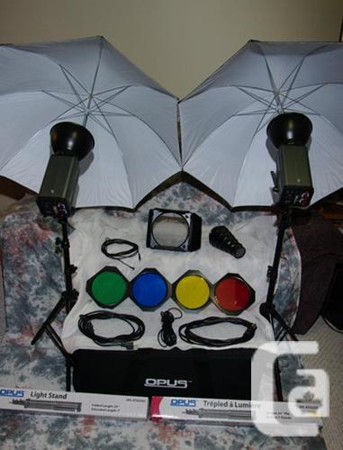 Opus Pro OPL L-150 Monolight Kit and various