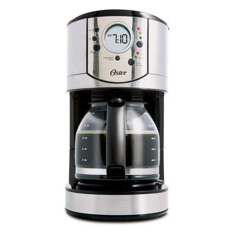 Oster 12-Cup Stainless Steel Programmable Coffee Maker,