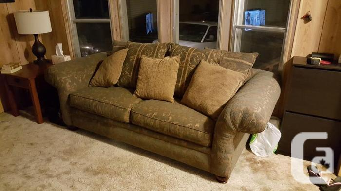 Overstuffed loveseat and couch for sale for sale in salt for Couch sofa for sale bc