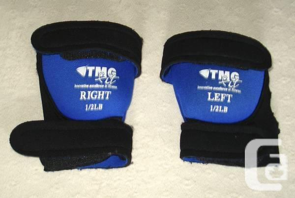 PAIR OF 1/2 pound TMG fit wrist / ankle weights - $5