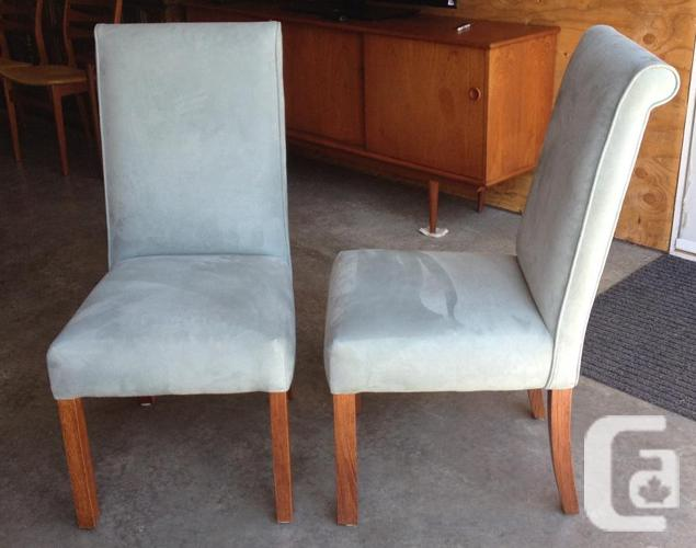 Pair Of Beautiful Suede Chairs Made In Australia