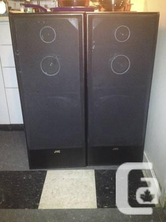 Pair of JVC SP-75BK Tower Speakers - $75