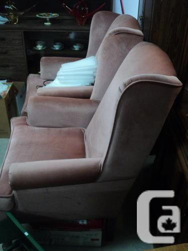 Pair of vintage Pink wingback chairs