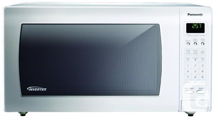 PANASONIC Genius Inverter Microwave Oven White 1.2 cu