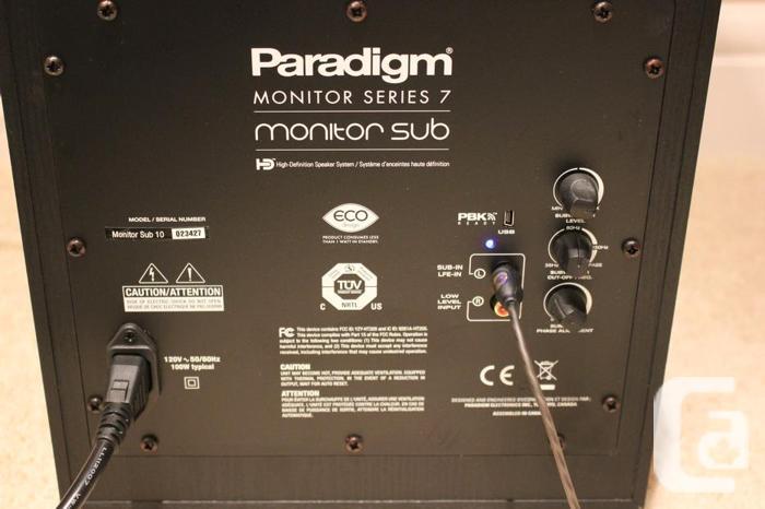 Paradigm Monitor Series 7 SUB 10