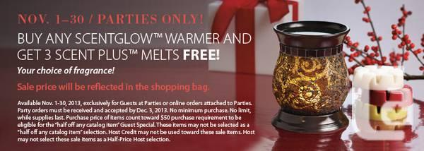 PartyLite Canada - 3 Free Melts with Warmer - Ind Cons.