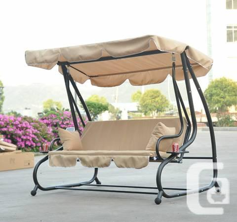 Patio Swing Chair 3 Seater Garden Recliner Canopy