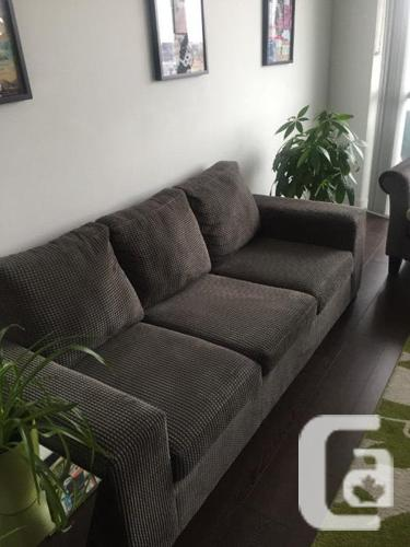 Pebbled Sofa Couch in Grey - PERFECT CONDITION