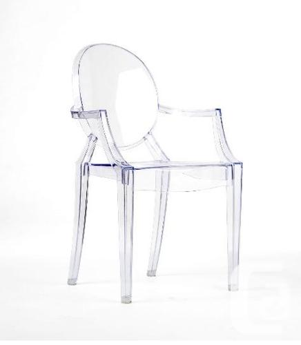 Philippe Starck Style Ghost Arm Chair - Louis XV style-