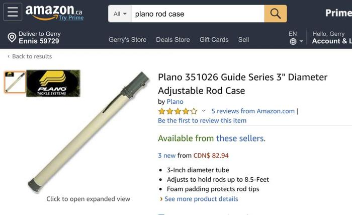 Plano Fishing Rod Case - LIKE NEW - solid protection