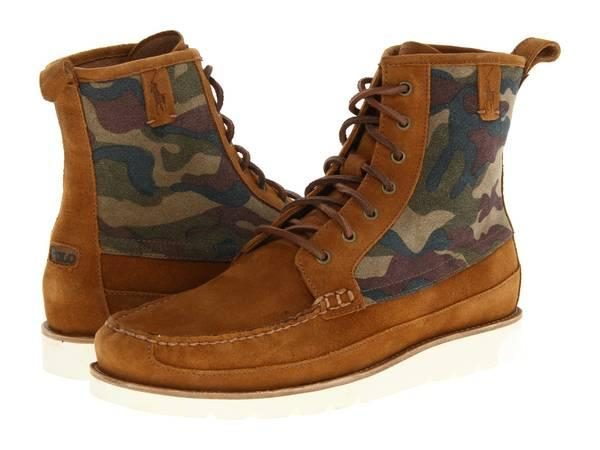 POLO RALPH LAUREN Mens Oiled Suede STRATFORD Boots -