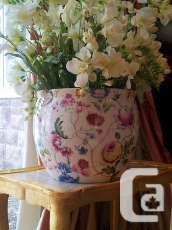 Porcelain Flower Vases -- Made in Italy - $180