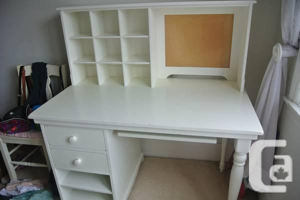 Pottery Barn White Desk Hutch Chair Madeline Style