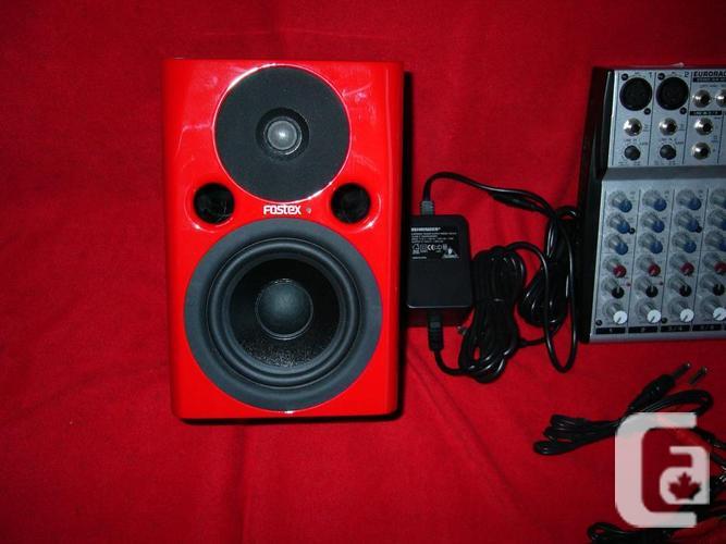 Pro Fostx PM0.4N Speakers & Behringer UB802 Mixer.