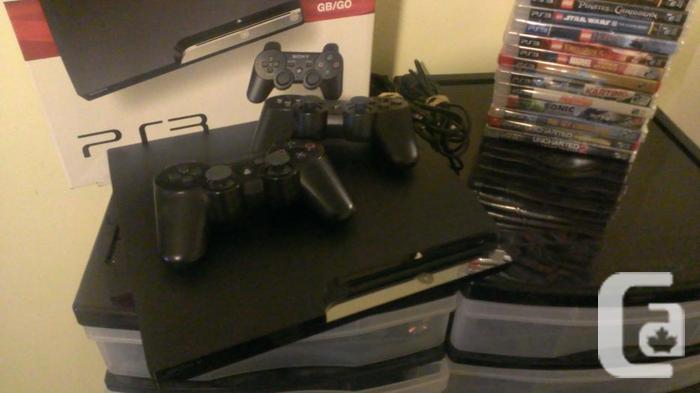 PS3 Slim 500GB Bundle with 24 Games
