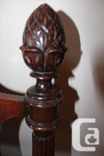 Queen Solid mahogany headboard and footboard
