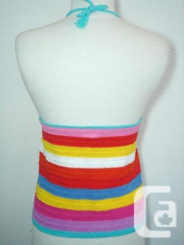 Rainbow Color Knitted Tank Top / Sleeveless / Cami