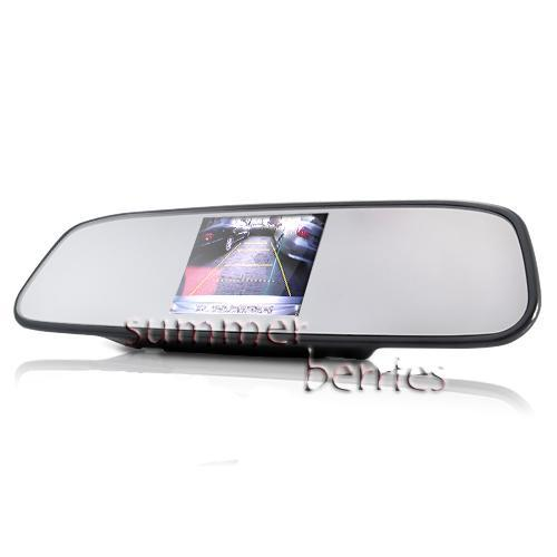 "Rearview Mirror with Built-In 4.5"" LCD Screen"
