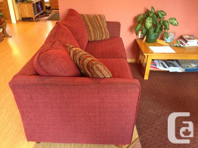 Red Hide A Bed Couch For Sale Or Trade For Sale In Cobble Hill British Columbia Classifieds