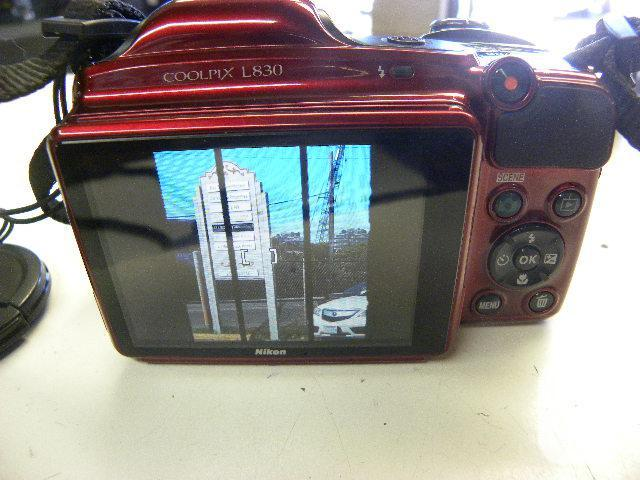 Red Nikon Coolpix L830 Digital Camera