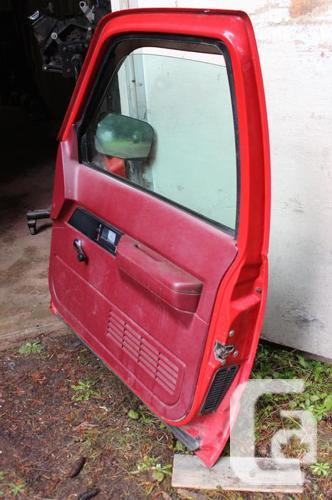 RED P.S. Door from 1993 Full Size GMC TRUCK