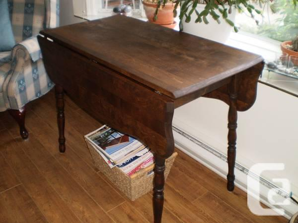 *REDUCED... ANTIQUE MAPLE DROP LEAF TABLE - $225