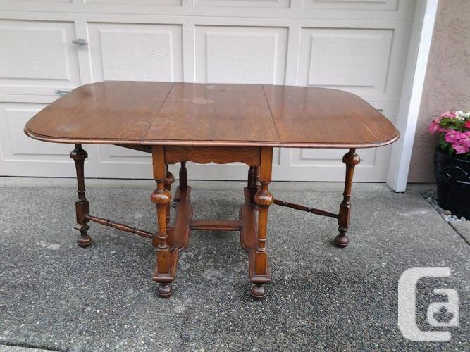 Reduced solid oak antique drop leaf table for sale in for Reduced furniture