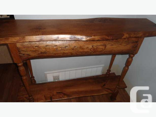 Refined Rustic Live Edge Sofa Table For Sale In Calgary