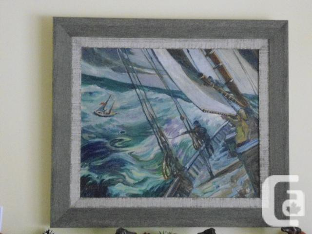 RESCUE AT SEA BY NOVA SCOTIA EARL BAILLY PAINTING