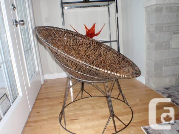 Retro Wicker And Metal Chair For Sale In Guelph Ontario Classifieds