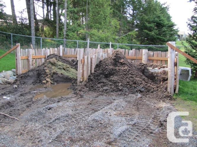 Rich gardening soil for sale in sooke british columbia for Garden soil for sale