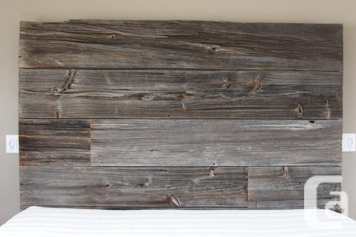 Rustic/Reclaimed King Sized Barn Wood Bed frame and