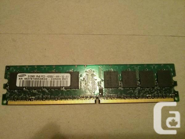 Samsung 1GB 2x512MB DDR2 PC2-4200 computer Computer