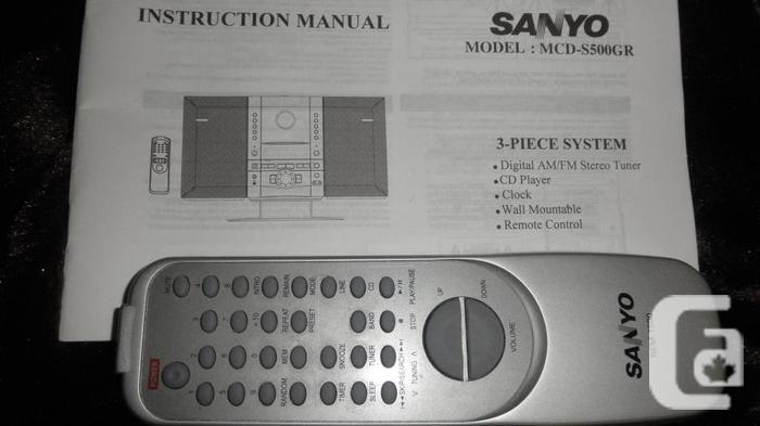 SANYO CD Player/AM-FM Stereo Tuner