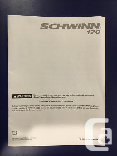 Schwinn 170 Upright Stationary Bike