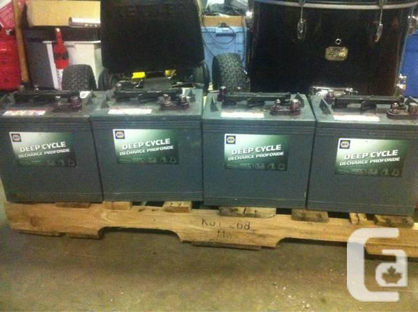 Set Of 4 Napa Deep Cycle 6 Volt Batteries For Sale In