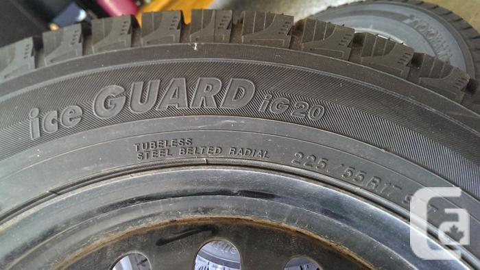 Set of 4 - Yokohama Ice GUARD 225/55 R17 97T Tires &