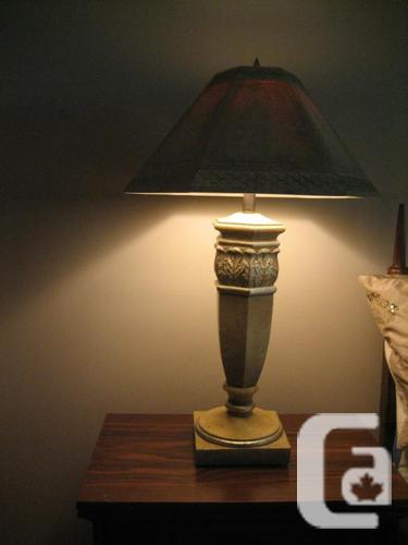 SET OF TABLE LAMPS IN NEW COND., VERY DISTINCTIVE HARD