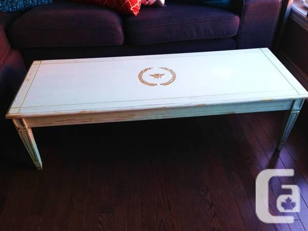 SHABBY CHIC Stenciled Coffee Table for sale in Guelph