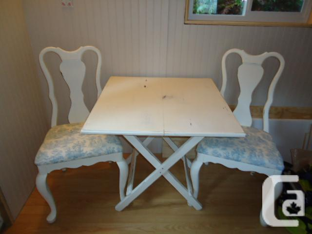 Shabby Chic Table And Two Chairs For Sale In Malahat