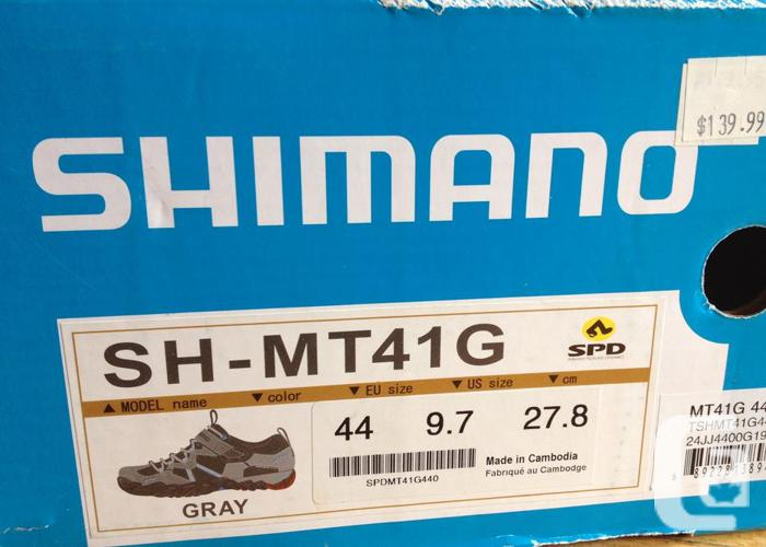SHIMANO MT41G Mountain bike shoes with SPD Size 9.7