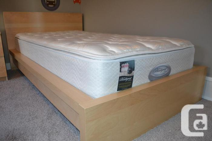 SIMMONS Beautyrest Twin Mattress and MALM Bedframe